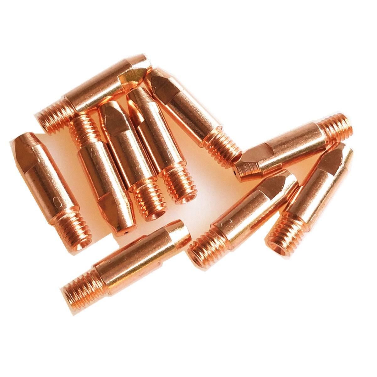 consommables pour torche//pistolet MIG pour chalumeaux de soudage MIG MAG de style europ/éen col de cygne 15AK 24KD 36KD Bouts de contact 15AK Nozzle 10pcs supports buses
