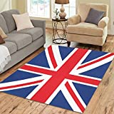 Cheap InterestPrint Red Union Flag Jack Area Rug 7′ x 5′ Feet, Blue White Britain English Flag Modern Carpet Floor Rugs Mat for Children Kids Home Living Dining Room Decoration