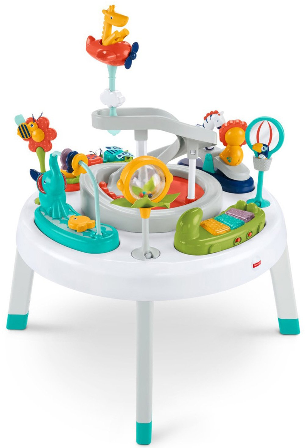 Fisher-Price 2-in-1 Sit-to-Stand Activity Center, Spin 'n Play Safari Spin ' n Play Safari FFJ01