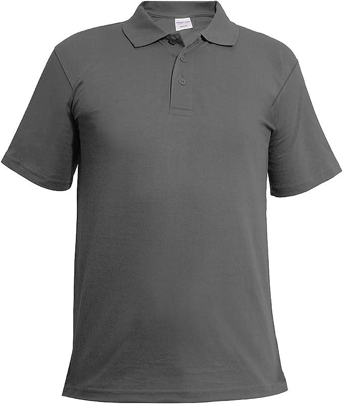 Mens Classic Polo Top Plus Size T-Shirt Plain Shirt Big And Tall Short Sleeve