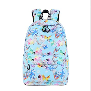 Mochila de impresión Volver a mochilas escolares para adolescentes Mochilas de niños Mochilas para adolescentes Mochila femenina Mochila para niña Blue ...