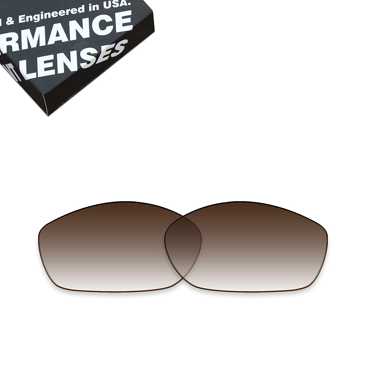 Brown Gradient ToughAsNails Polarized Lens Replacement for Costa Del Mar Fisch Sunglass