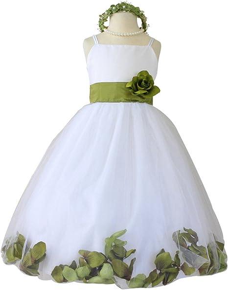 Amazon.com: Vestido de niña de flores de pétalos paperio ...