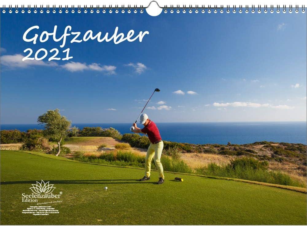 Calendrier Golf 2021 Calendrier de golf magique DIN A3 pour golf 2021 et golf et 1