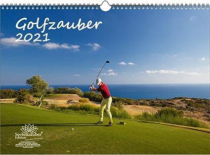 Golfzauber Calendrier A3 pour Golf 2021 et golf comprenant 1 carte