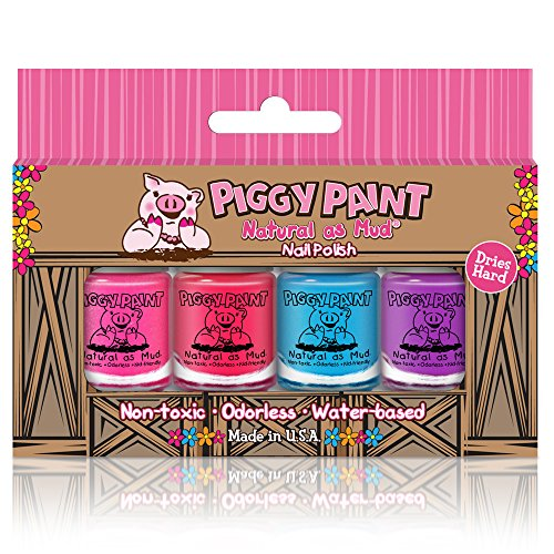 Piggy Paint - 100% Non-toxic Girls Nail Polish, Safe, Chemical Free, Low Odor...