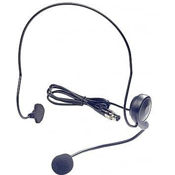 Rocket MICWHS - Micrófono inalámbrico (banda banda UHF, de auricular), color negro: Amazon.es: Instrumentos musicales