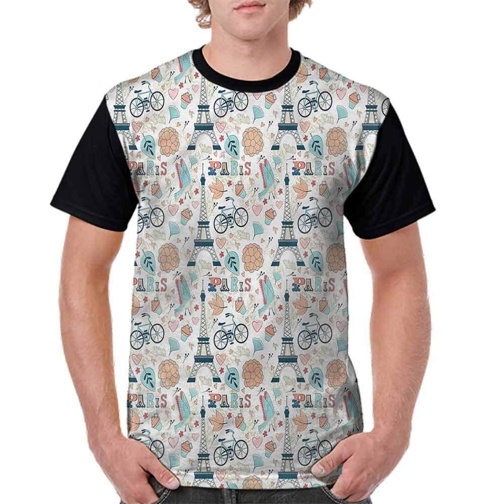 Loose T Shirt,Sleeping Panda on Cloud Fashion Personality Customization
