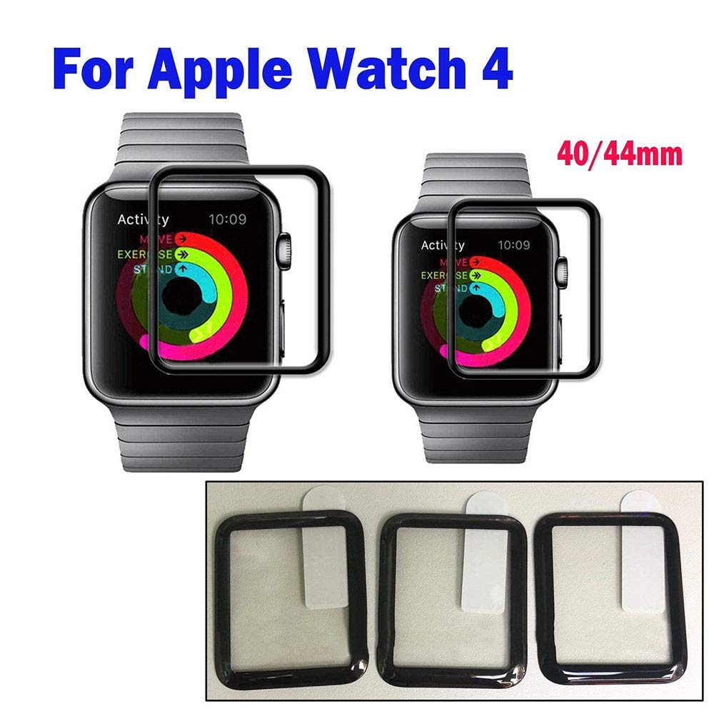 Amazon.com: BATOP Apple Watch Screen Protector || toughened Glass for i Watch 4 2018 Protective Glass for Apple i Watch 40 44 Screen Protect case for i ...