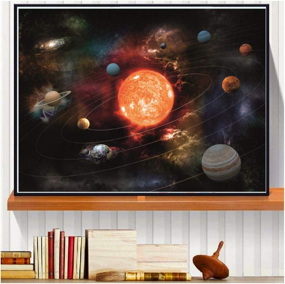 60X80cm-No Frame xiongda Sonnensystem Planet Leinwand Kunstdruck Malerei Wandbilder f/ür Wohnzimmer Schlafzimmer Moderne Inneneinrichtung Poster