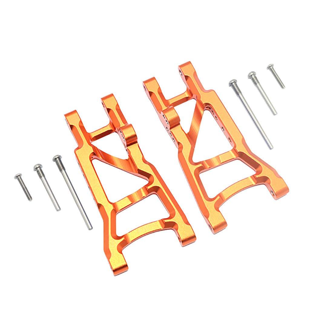 Binory Aluminum Rear Suspension A-Arms for Traxxas 1/10 Slash 2WD RC Car Upgrade Part(Orange)