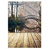 Scenic Background - TOOGOO(R) Scenic Background Photo Studio Photography Backdrops Arched Bridge Vinyl 5x7FT