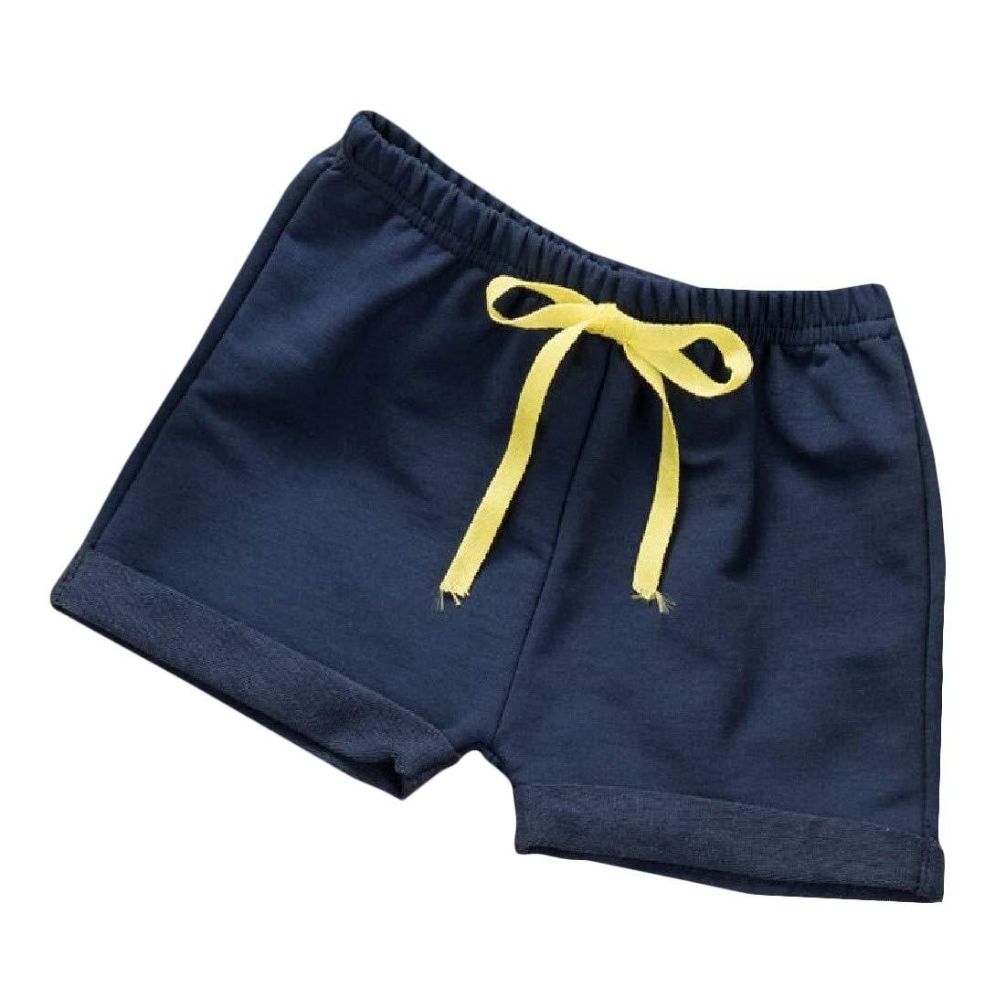 Adriat Girl Cute Boys' Sports Cotton Stretchy Short Navy Blue 2T