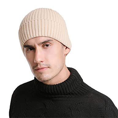 9a4e4d8b398 HLHYES Wool Beanies Knit Men s Winter Hat Caps Skullies Bonnet Winter Hats  Men Women Beanie Warm