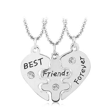 db2c46ee791 Amazon.com: Charm.L Grace 3 Piece Best Friend Necklaces friendship ...