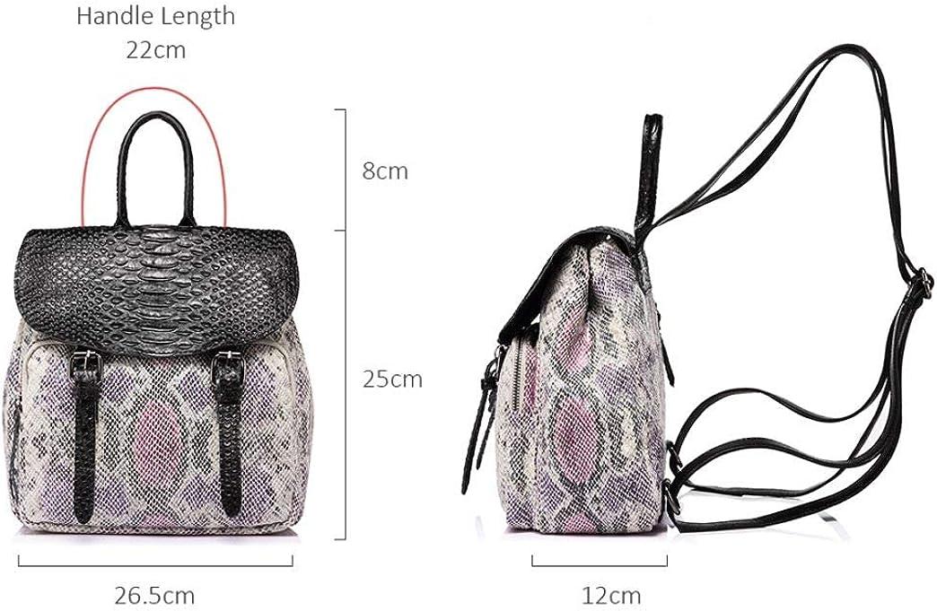 Womens satchel shoulder bag snake print mini backpack handbag