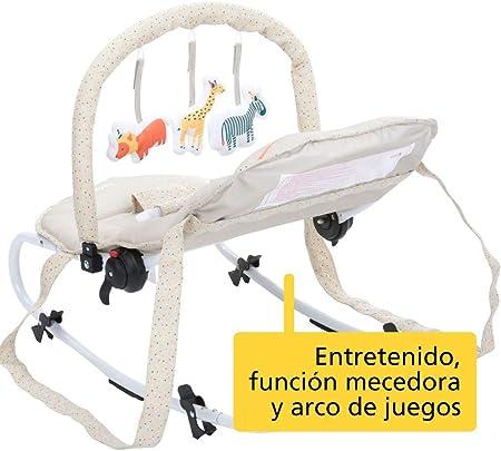 Safety 1st Koala Gandulita reclinable para bebé con funcion mecedora, Hamaca con arco de juego, ligera y compacta, color happy Day