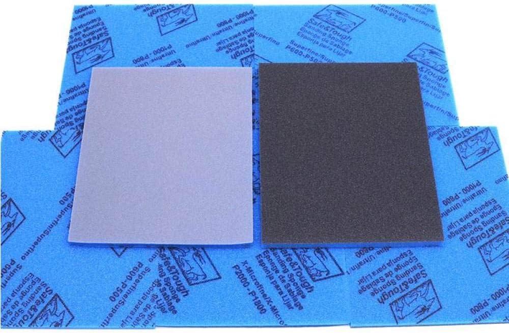 LCDIEB Sandpaper 10pc High Quality Sponge Sandpaper Elastic Grinding Block Sliding Mark Polishing Plastic Shell Polish,1200,1500 1800-2000