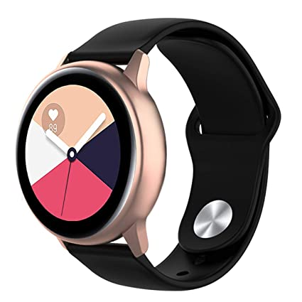 Wareon Compatible with Samsung Galaxy Watch Active 2 40mm/44mm/Active 1/Galaxy Watch 42mm/Gear S2 Classic SM-7320/Sport SM-600 20mm Quick Release ...