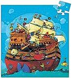 Djeco 599386031 - Puzzle silueta el barco pirata