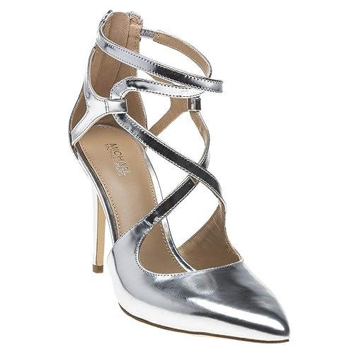334ff3ee3a92 Michael Kors Catia Pump Shoes Silver 4 UK  Amazon.co.uk  Shoes   Bags