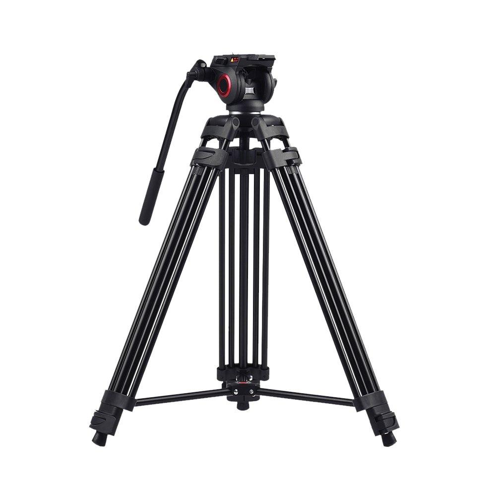 miliboo MTT601A Heavy Duty Aluminum Video Tripod with Middle Spreader Design Camera Tripod Stand