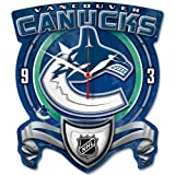 Wincraft NHL 0716081 Vancouver Canucks High Definition Plaque Clock