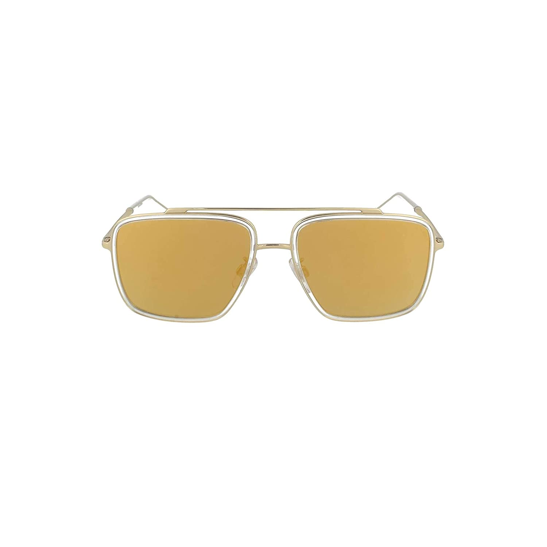 Brown Mirror Gold DG2220-488-7P-57 Dolce/&Gabbana DG2220 Sunglasses 488//7P-57