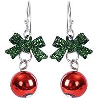 Rusisi Kerst Oorbellen Vrouwen Romantische Strikje Oorsteen Mode Glanzende Strass Sieraden Gift voor Kerstmis