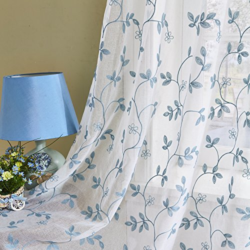 Sheer Cafe Curtains Amazon Com: Embroidery Sheer Curtains: Amazon.com