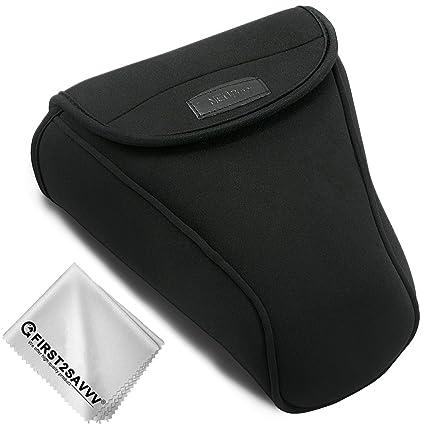 Negro Funda Cámara Reflex Neopreno Protectora para Canon EOS T7i ...