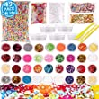 Slime Supplies Kit 49 Pack Slime Making Supplies, Include Slime Glitter, Foam Balls, Fishbowl Beads, Fruit Cake Slices, Slime Containers, Slime Accessories for Slime Art DIY Craft by INFELING by INFELING