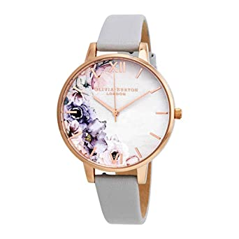 59c6409428409 Image Unavailable. Image not available for. Color  Olivia Burton  Watercolour Florals Watch in Blush and Rose Gold