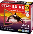 TDK Blu-ray BD-RE Re-writable Disk 25GB 2x Speed 10 Pack   Blueray Disc Rewritable Format Ver. 2.1