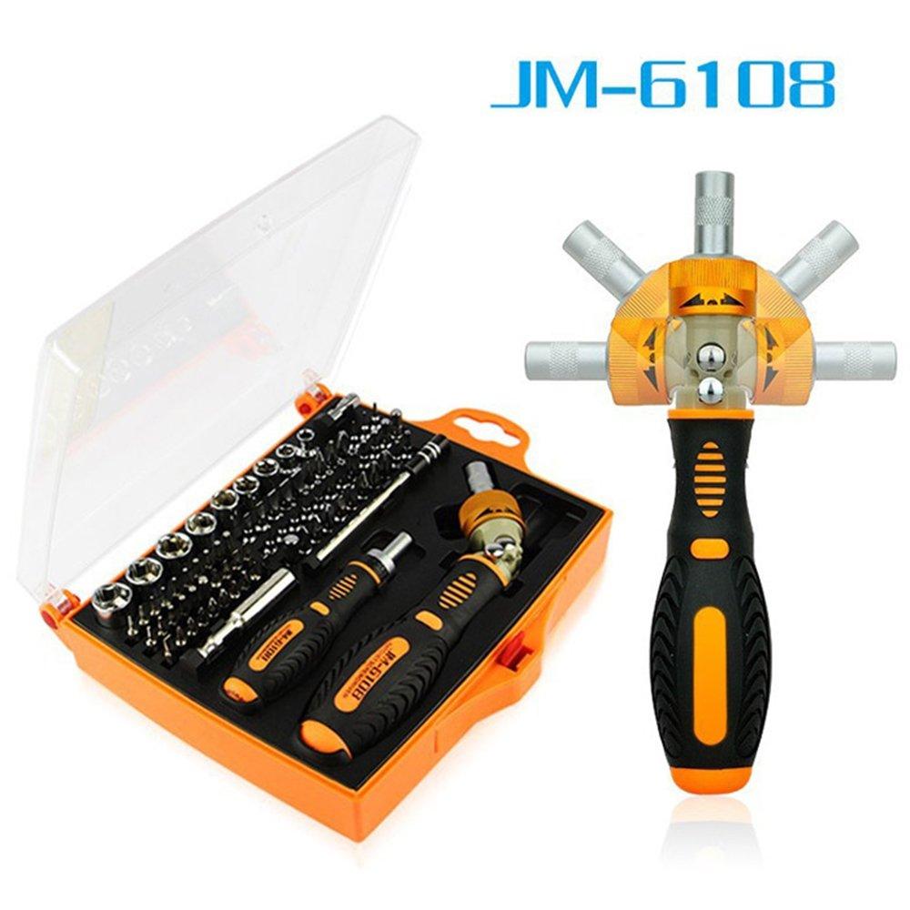 JM-6108 79ワンピースラチェットスクリュードライバホームメンテナンス用ドライバーセット B077MCLKPF