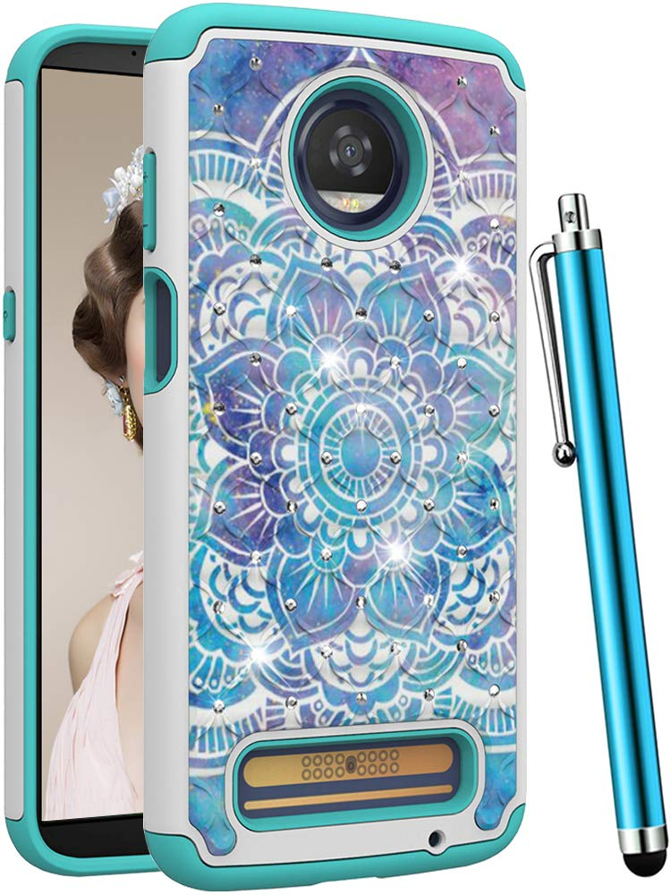 Amazon.com: CAIYUNL Moto Z3 Case, Moto Z3 Play Case, Bling ...