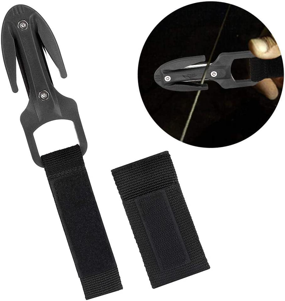 Cuchillo de Corte de Buceo seco Equipo de Buceo Qinlorgo Cuchillo de Corte de Buceo Negro