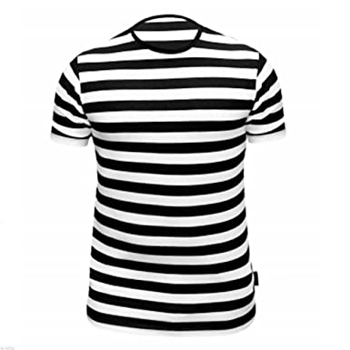 b4c10dfe8e44 Vogueland Kids Children Striped T-Shirt Fancy Dress Summer Holiday sizes  5-13 ( 7-8 Years, Black-White stripe): Amazon.co.uk: Clothing