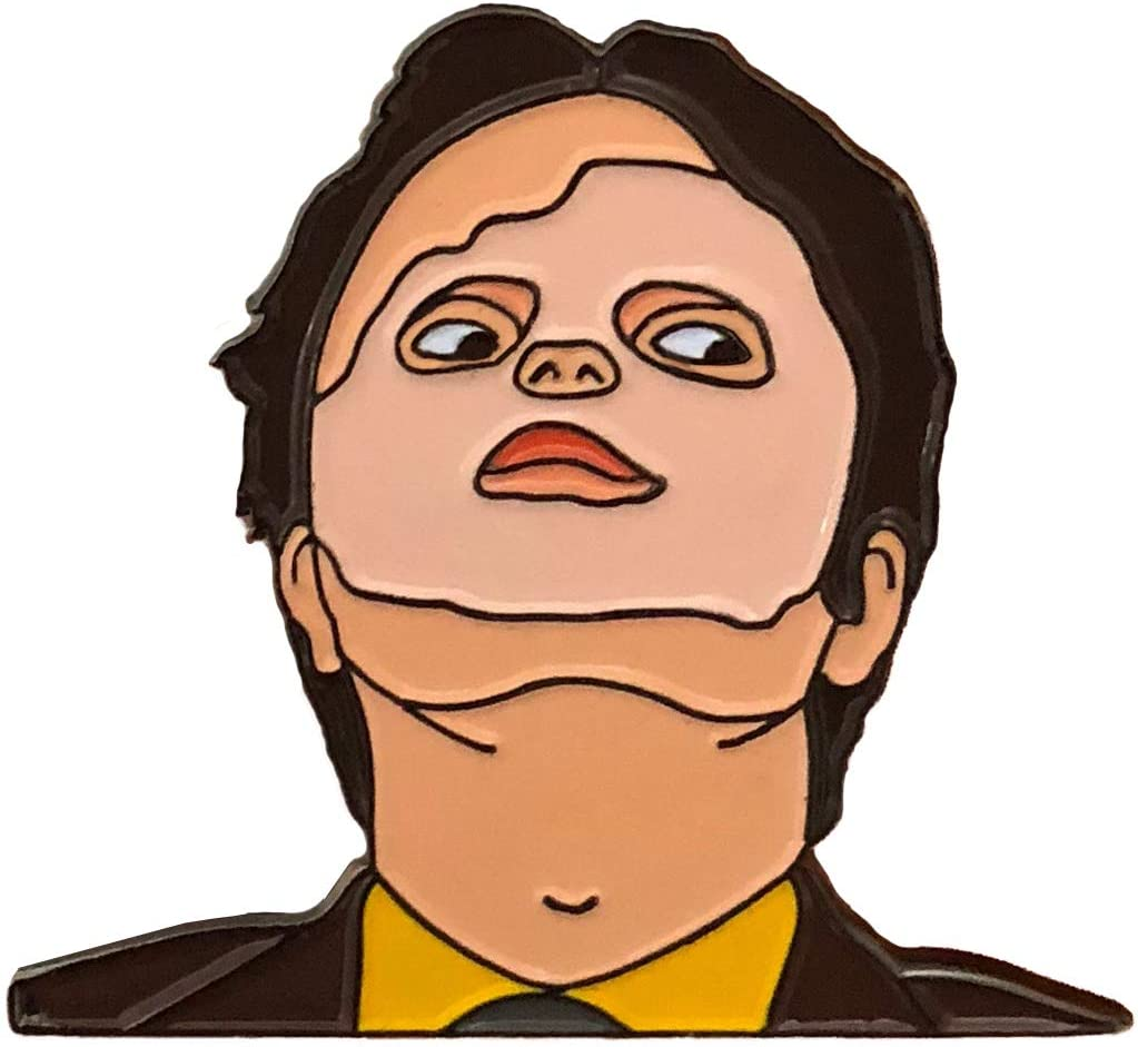 Balanced Co. Dwight Schrute Mask Enamel Pin Rainn Wilson Pin