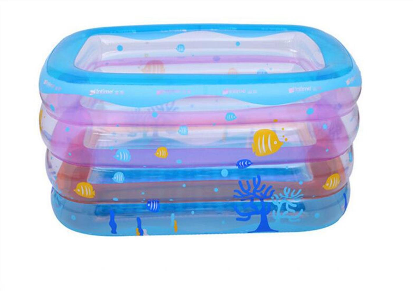 DU&HL Children Play Pool Swimming Bucket Newborn Tub, Environmental Protection PVC Material Baby Inflatable Swimming Pool