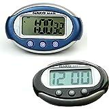 SimpleLif 3 Buttons Smart Mini Digital Clock Portable Car Auto Dashboard LCD Display
