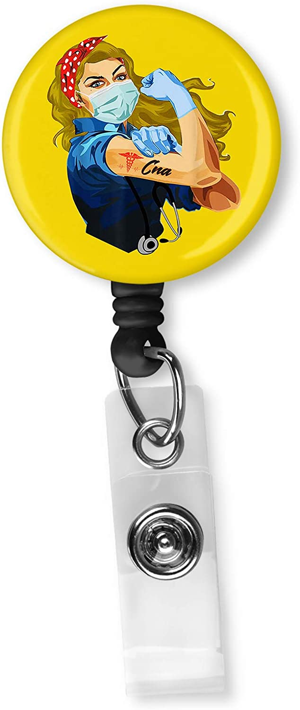 101 Dalmations Lucky work retractable badge reel holder nurse Cna Dr secretary