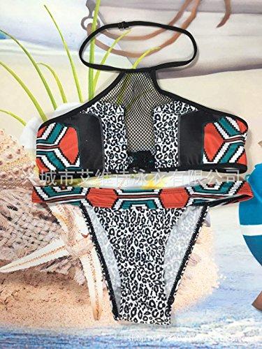 Mode Damen Bunte Blume Drucken Bikini Set