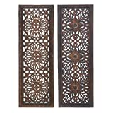 wood wall art Deco 34087 Elegant Sculpture 2 Assorted Wood Wall Panel