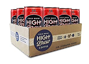 High Brew Coffee Double Espresso Can, 8 Fl Oz,Pack of 12