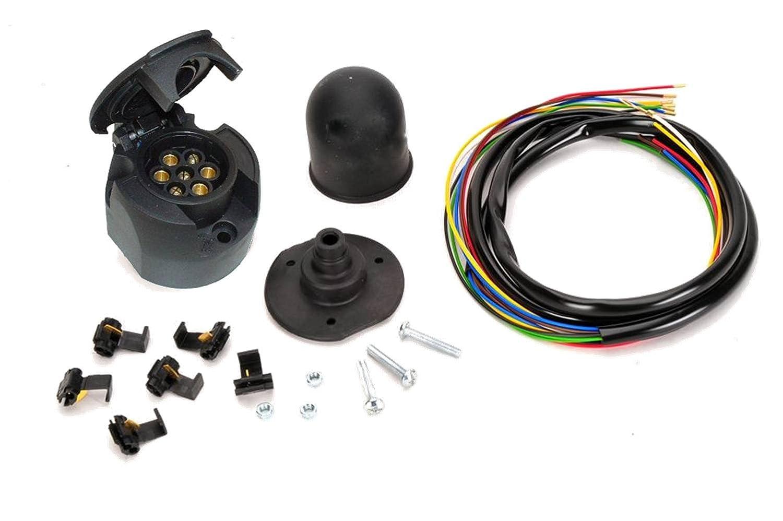 Universale 12 V e-satz rimorchio pin auto sulla barra di traino per rimorchio con cappuccio protettivo STEINHOF WUK-01