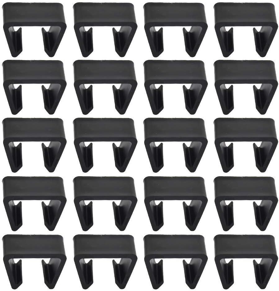 FOCCTS 20 Pcs Patio Wicker Furniture Clips, Outdoor Wicker Furniture Rattan Chair Sofa Fasteners Clip Sectional Connector, Furniture Sectional Sofa Chair Alignment Fasteners Sofa Clips