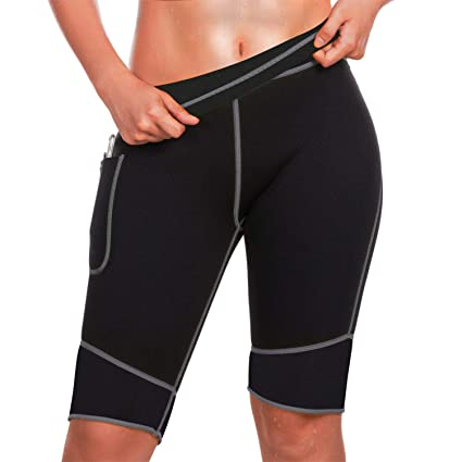 6ea058d54 TrainingGirl Inches Slimmer Hot Neoprene Shorts with Pocket for Women  Weight Loss Slimming Sauna Sweat Pants