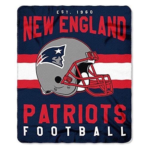 The Northwest Company New England Patriots NFL Light Weight Fleece Blanket (Singular Series) (50inx60in) (2-Pack) (Blanket England New Fleece Patriots)