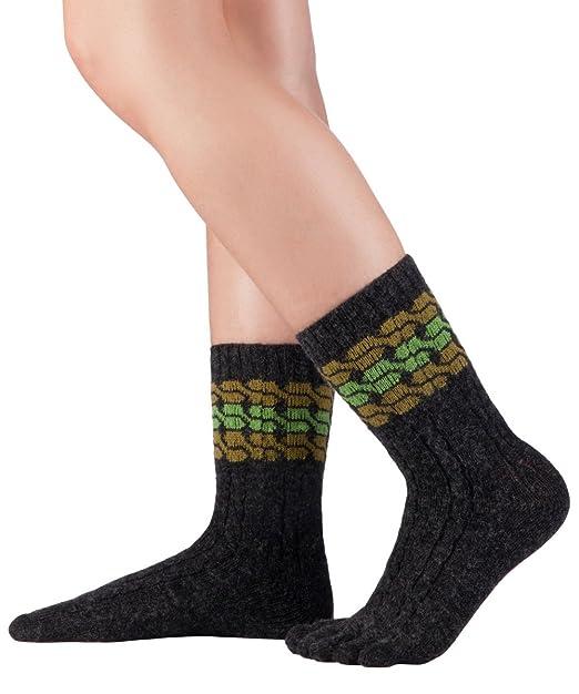 Knitido Calcetines de dedos de lana merina y cachemira, calcetines de lana sin costuras, sin banda de goma, unisex: Amazon.es: Ropa y accesorios